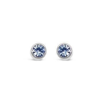 birthstone earring march azara john swan jewellers