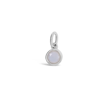 october sterling silver birthstone small disc pendant
