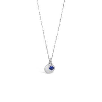 september sapphire birthstone necklace