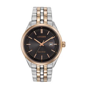 Citizen Gents Watch Eco Drive 2 tone bracelet strap Date john swan jewellers